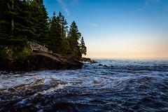 Cascade Falls State Park || Summer 2014 (manaelm1) Tags: sunset nature waves shoreline greatlakes northshore lakesuperior