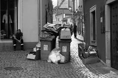 Olympus Mju II - Dustman 2 (Kojotisko) Tags: bw streetphotography brno creativecommons czechrepublic streetphoto rodinal fomapan100 mju2 olympusmjuii
