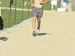 IMG_0733 (FOTOSinDC) Tags: shirtless hairy man muscles back arms arm legs candid chest leg handsome running sweaty sweat guns jogging runner jogger
