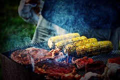 Grilling (BDM17) Tags: fire corn smoke bbq grill charcoal steak barbecue lobster barbeque grilling cob