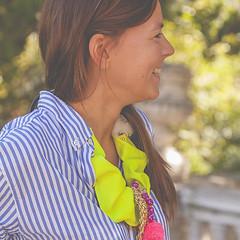 Street style. Naif in Progress. (www.rojoverdeyazul.es) Tags: woman girl fashion photography necklace mujer chica moda progress posh collar product autor bueno manufacture fotografa lvaro producto naif