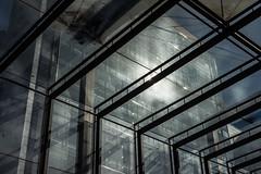 Arrangement And Relations (pni) Tags: light shadow detail reflection window glass metal wall architecture suomi finland helsinki steel through helsingfors ruoholahti stg skrubu pni grsviken pekkanikrus