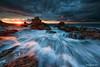 izu Oose Rock sunrise (koshichiba) Tags: longexposure beach nature rock japan sunrise landscape coast long exposure surf tide wave filter shore lee nd 岩 海岸 islet izu 波 大瀬 伊豆 日の出 ndfilter 朝日 oose minamiizu seascpae 南伊豆 磯