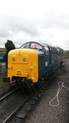 55019 at Kidderminster (Decibel Dave) Tags: napier severnvalleyrailway deltic englishelectric 55019 type5