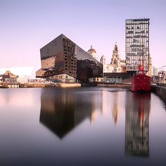 Albert Dock, Liverpool (Julian Pett) Tags: albert dock liverpool relection liver building museum sea harbour long exposure boat ship quay