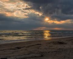 Lac Ontario (monilague) Tags: county sunset sun lake ontario reflection water clouds evening soleil eau cloudy coucher lac prince reflet nuages soir reflexion nuageux eward
