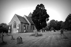 Orlestone Church. (pstone646) Tags: sky blackandwhite building church nature monochrome architecture kent graves