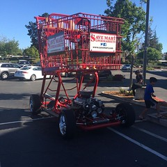 That is a big shopping cart! #vroom #livermore (aaron_anderer) Tags: california racecar shopping square trolley squareformat cart livermore vroom savemart wild949 luckya iphoneography instagramapp
