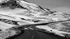 notes from a glorious mountain crossing (lunaryuna) Tags: voyage road travel winter bw mountain monochrome landscape blackwhite iceland spring journey lunaryuna ontheroadagain passroad mountaincrossing northiceland seasonalchange northfjords stillstuckinwinterinmay
