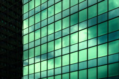 Green (Maerten Prins) Tags: windows distortion abstract reflection green geometric window netherlands glass lines composition grid rotterdam pattern squares nederland minimal line minimalism rotjeknor