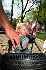 . (krameroneill) Tags: park baby oslo norway mom xpro flash tireswing fujifilm 2016 krameroneill