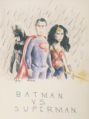 Batman vs Superman (Dulce_dream) Tags: dc superman wonderwoman batman dccomics benaffleck clarkkent brucewayne henrycavill batmanvssuperman galgadot dianatrevor