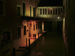 Side entrance of Hotel Danieli, Rio del Vin, Castello, Venezia,  Italy (Ministry) Tags: bridge venice italy rio night awning canal italia quay ponte venezia castello redcarpet veneto casanuova delvin rivadeglischiavoni hoteldanieli palazzodandolo