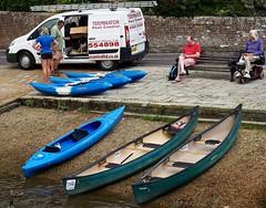 I'llBeBack (Hodd1350) Tags: woman men female bench sitting olympus canoes dorset males stonewall watersedge ladder van waterside kyaks wareham penf zuikolens