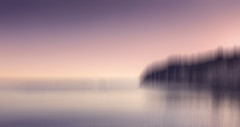 Homeward (Bruus UK) Tags: sea sky seascape abstract motion blur reflection beach beer coast marine dusk calm minimal devon serene panning headland