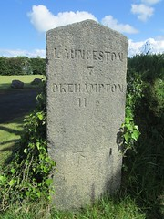 Milestone old A30 Launceston to Okehampton (Bridgemarker Tim) Tags: cornwall launceston a30 okehampton