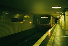 Berlin train (Alek Mesev) Tags: canon canonet g17 giii fujifilm superia xtra 400 backpacking europe germany berlin potsdam train track tunnel
