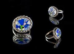 (Vlad Katenkar) Tags: art glass silver mosaic decoration ring micro nickel marble florentine smalt