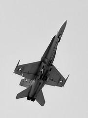 Swiss Air Force F/A-18C (Nico.H.) Tags: white black plane nikon force swiss aircraft military air airshow 105 f18 dslr istres d5100