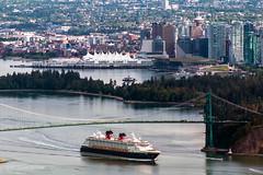 Where Dreams Come True - Vancouver, BC (Michael Thornquist) Tags: bridge canada vancouver britishcolumbia disney cruiseship pacificnorthwest burrardinlet stanleypark lionsgatebridge pnw vancouverbc disneywonder coalharbour westvancouver disneycruise vancity gvrd metrovancouver westvan vancouvercanada vancouverconventioncentre vancouverisawesome vancouverphotos explorecanada ilovebc vancitybuzz canadaplave veryvancouver photos604 dailyhivevan