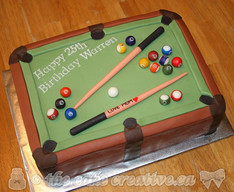 Happy Birthday Billiards Cake