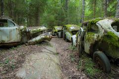 Car cementary (andreassofus) Tags: cars cemetery woods sweden tcksfors bstns vstrafgelvik
