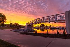 White Bridge Sunrise 2 (VBuckley.com) Tags: mckinleymarina sunrise bridge whitebridge colorful summer lakemichigan timelapse outdoor morning early milwaukee glimpseofmilwaukee glimpse vincentbuckley boat boats sailboat water canon gopro 5d