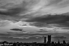 Black and white sunset (Gian Floridia) Tags: sunset urban bw skyline tramonto milano towers bn torri hadid isozaki bienne cittadino