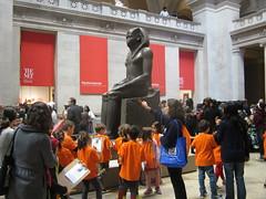 Meet the Pharaoh! (bronxbob) Tags: nyc newyorkcity art manhattan museums hatshepsut metropolitanmuseumofart ancientegypt egyptianart pharaohs