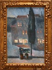 Edvard Munch - Cypress in Moonlight 1892 (ahisgett) Tags: new york art museum met metropolitian