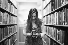 concentration (Andy Kennelly) Tags: yashica camera medium format bw library concentration nationalcameraday