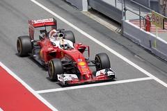 F1 Testing Spain 2016 (Adrian Brittlebank) Tags: barcelona canon 1 spain sebastian mark f1 ferrari testing formula 5d catalunya circuit motorsport 2016 redring vettel