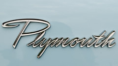 Big Plymouth script (GmanViz) Tags: color detail car nikon automobile plymouth chrome badge type script stationwagon 1960 gmanviz d7000