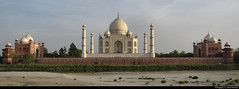 Taj Mahal seen from the banks of the Yamuna river, Agra, India (JH_1982) Tags: taj mahal   unesco world heritage site mughal architecture mausoleum     mosque  tacmahal tdmahal    panorama yamuna river banks shore  jamuna      agra      uttar pradesh shah jahan ustad ahmad lahauri landmark white domed marble complex mumtaz india  indien inde ndia     tac tadz historic famous exotic travel traveling travelling travels tourist tourism sight sightseeing