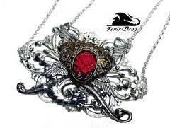 """Gothic pendant """"Werewolf"""" with a red rose and a mythical wolf silver cameo Baroque, Rococo, Steampunk, Victorian, handmade jewelry (fenixdrag) Tags: rose werewolf vintage silver wolf handmade gothic redrose goth creative victorian jewelry cameo accessories baroque pendant rococo steampunk filigree neckalce gothicstyle gothstyle vintagejewelry vintagependant victorianstyle handmadejewellery silverwolf mycraft victorianjewelry handmadependant handmadeneckalce steampunkfashion steampunkjewelry steampunkjewellery steampunkpendant creativejewelry gothicjewellery victorianpendant steampunkstyle creativejewellery gothicpendant vintageneckalce darkjewellery pendantwolf necklacewolf steampunkneckalce victorianneckalce creativeneckalce pendantwolfsilver creativependant"""