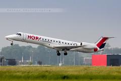 LIL - Embraer ERJ-145MP (F-GUBC) Hop! Air France (Aro'Passion) Tags: france canon air lil hop lille embraer dcollage erj lesquin natw 145mp aropassion