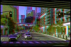 Toronto Evening 3-D ::: HDR/Raw Anaglyph Stereoscopy (Stereotron) Tags: urban toronto ontario canada america radio canon eos stereoscopic stereophoto stereophotography 3d downtown raw cyclist traffic control north citylife streetphotography kitlens twin anaglyph financialdistrict stereo queue stereoview to remote spatial 1855mm hdr province redgreen tdot 3dglasses hdri transmitter stereoscopy synch anaglyphic optimized in threedimensional hogtown stereo3d thequeencity cr2 stereophotograph anabuilder thebigsmoke synchron redcyan 3rddimension 3dimage tonemapping 3dphoto 550d torontonian stereophotomaker 3dstereo 3dpicture anaglyph3d yongnuo stereotron