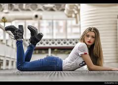 Aily - 3/4 (Pogdorica) Tags: chica retrato modelo rubia denim sesion vaquero matadero posado