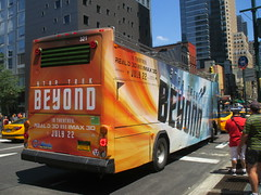 Star Trek Beyond - The Bus 2181 (Brechtbug) Tags: show street new york city nyc fiction bus film television trek computer movie poster star tv jj theater mr theatre manhattan district space rip ad broadway science double billboard midtown sidewalk ave captain spock scifi series beyond anton 1960s avenue abrams 8th futuristic kirk generated 45th decker the 2016 standee standees yelchin 07042016