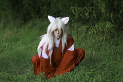Inuyasha Sitting Cosplay (firecloak) Tags: cat cosplay 27 inuyasha akon 2016