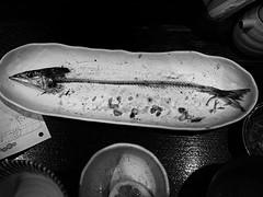 fishbone (s_inagaki) Tags: blackandwhite bw monochrome japan lunch tokyo fishbone bnw
