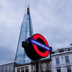 Underground (*hassedanne*) Tags: 10 theshard underground london sightseeing england uk grey