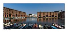 Mersey Festival at the Albert Dock (hehaden) Tags: panorama brick water liverpool buildings dock pano victorian yachts albertdock narrowboats canalboats museumofliverpool merseyfestival
