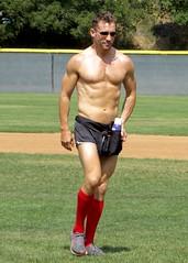 IMG_4493 (danimaniacs) Tags: shirtless man hot sexy guy field baseball muscle muscular hunk softball stud mansolo stevesiler