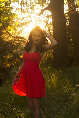 Ashleigh Noelle Photography [Mansi] (ashkono) Tags: sunset red summer portrait field model dress meadow naturallight ethnic discoverypark reddress goldenhour goldenlight portraitphotography summergirl naturallightportrait ethnicmodel girlincurls ashleighnoellephotography