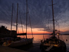 Yachts at sunset (GillWilson) Tags: sunset harbour croatia yachts rovinj istria