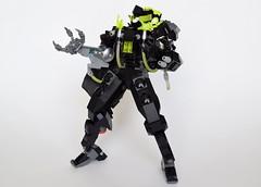 "EVCS-XCS01X ""HADES Unit 7"" (ExclusivelyPlastic) Tags: japanese robot lego military scifi ein mecha mech graze"