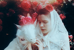 The Garden of Eden (laura makabresku) Tags: flowers roses laura film 35mm garden women goat fairy eden tale myth makabresku