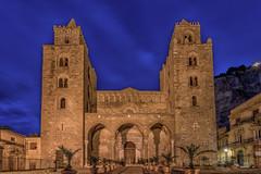 Duomo  di Cefalu (mcalma68) Tags: blue nightshot hour di sicily duomo cefalu
