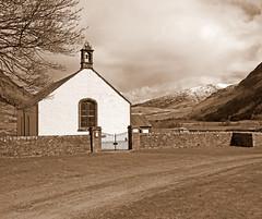 Innerwick Kirk (eric robb niven) Tags: church sepia scotland glenlyon innerwick ericrobbniven